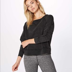 Lululemon Loop Back Crew Black